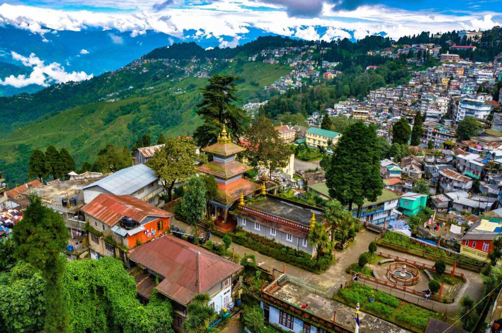 Aerial view of Darjeeling.