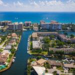 Aerial view of Deerfield Beach, Florida.