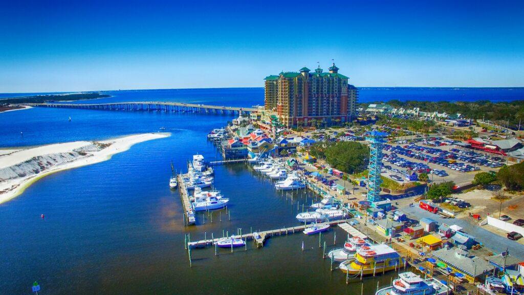 Aerial view of Destin, Florida.