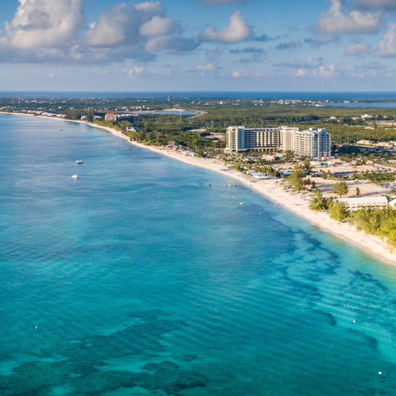 Aerial view of Grand Cayman island.