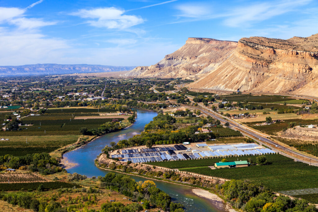 Aerial view of Grand Junction, Colorado.