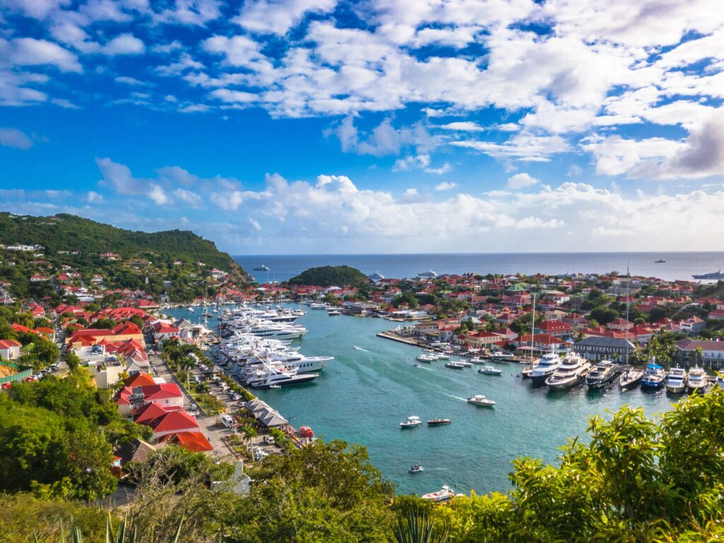Aerial view of Gustavia.