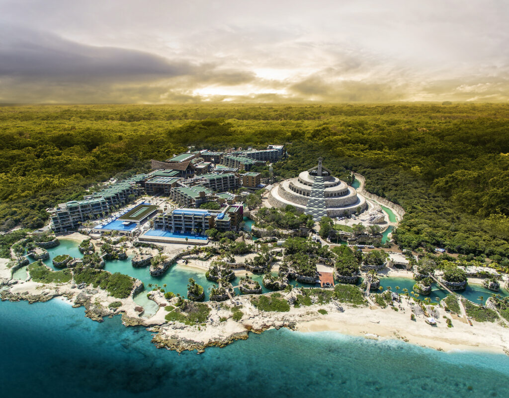 Aerial view of Hotel Xcaret Mexico.