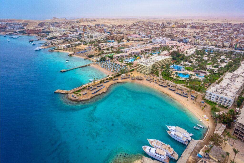Aerial view of Hurghada.