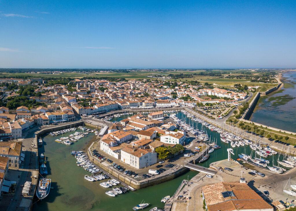 Aerial view of Ile De Re, France.