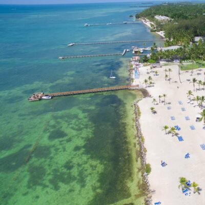 Aerial view of Islamorada, Florida.