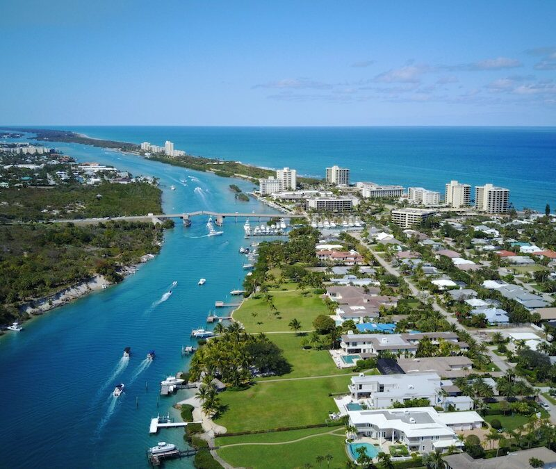 Aerial view of Jupiter, Florida.