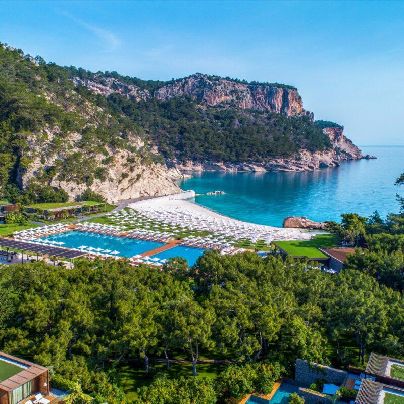Aerial view of Kemer Resort in Turkey.
