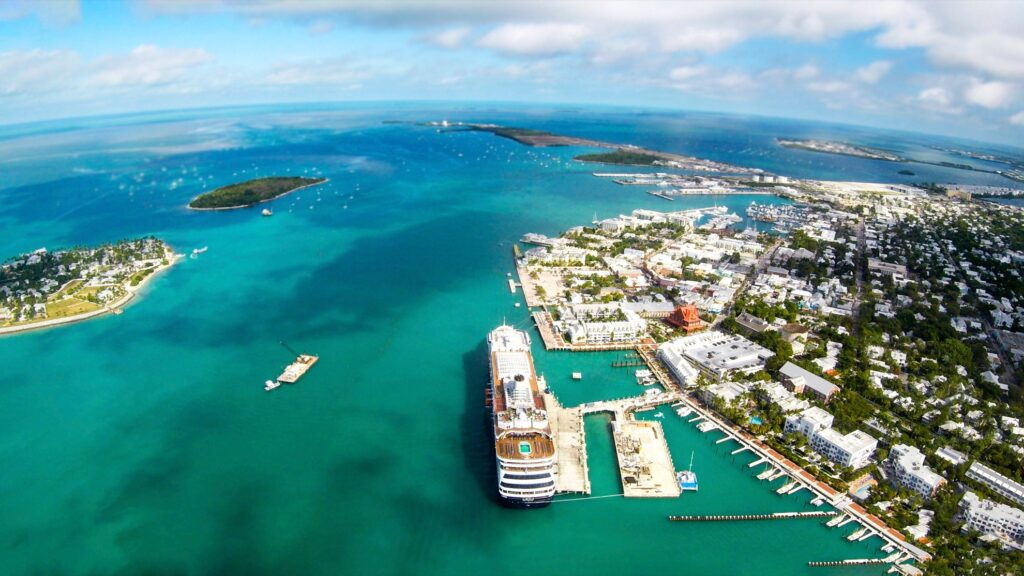 Aerial view of Key West, Florida.