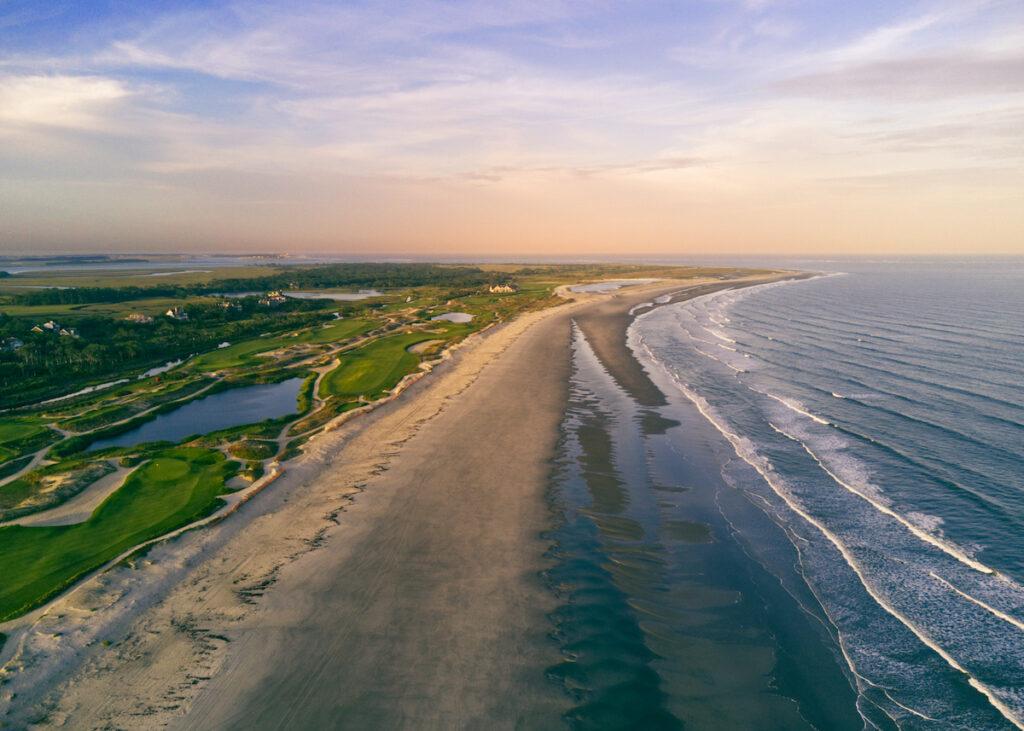 Aerial view of Kiawah Island in South Carolina.