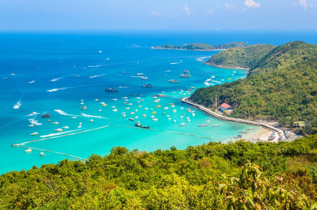 Aerial view of Koh Larn, Thailand.