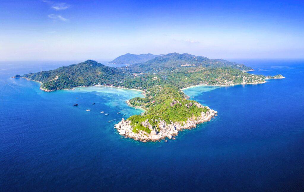 Aerial view of Koh Tao.