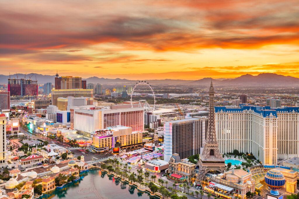 Aerial view of Las Vegas, Nevada.
