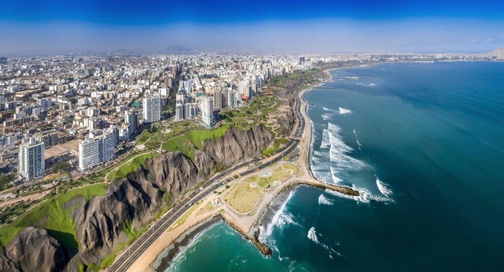 Aerial view of Lima, Peru.