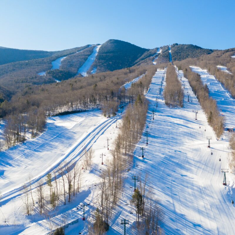 Aerial view of Loon Mountain in New Hampshire.
