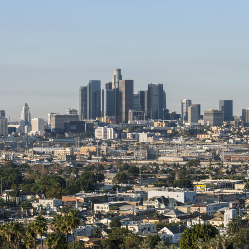 Aerial view of Los Angeles, California.