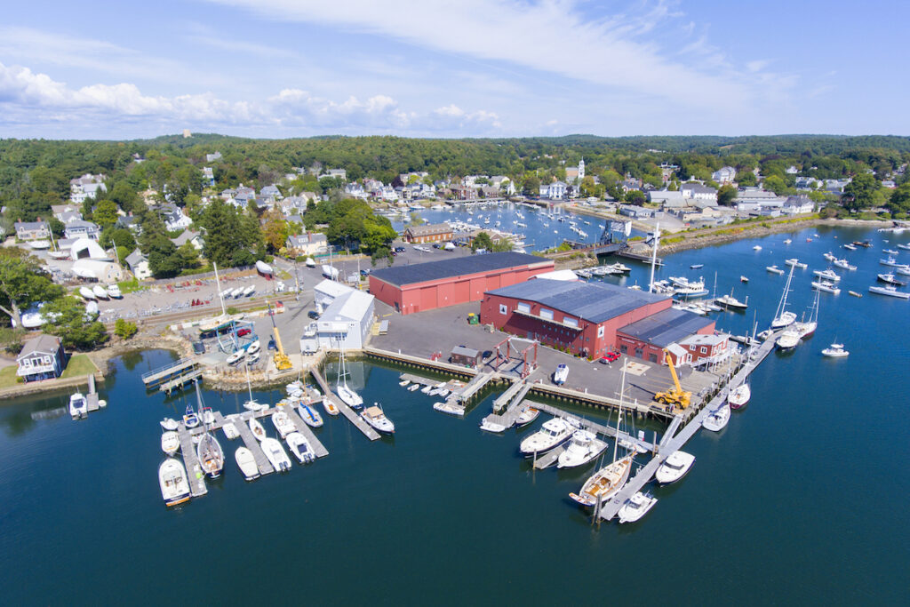 Aerial view of Manchester-By-The-Sea, Massachusetts.