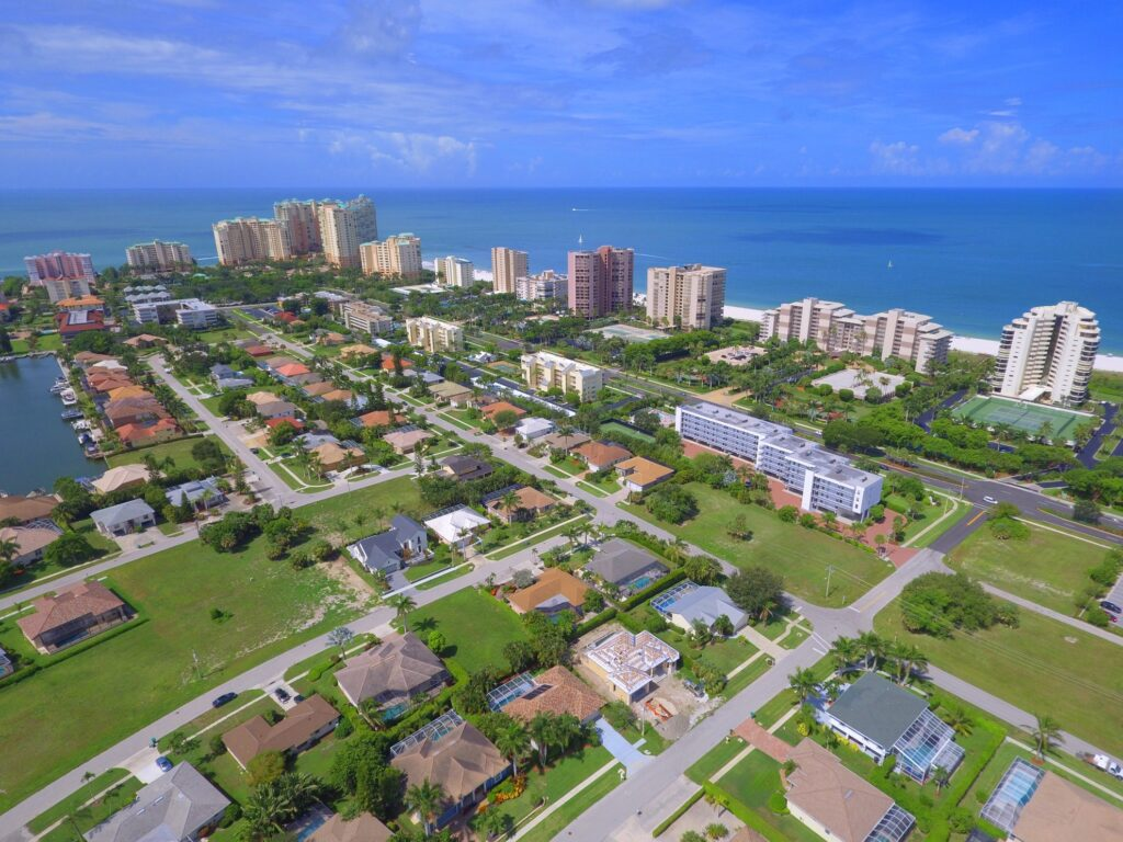 Aerial view of Marco Island.