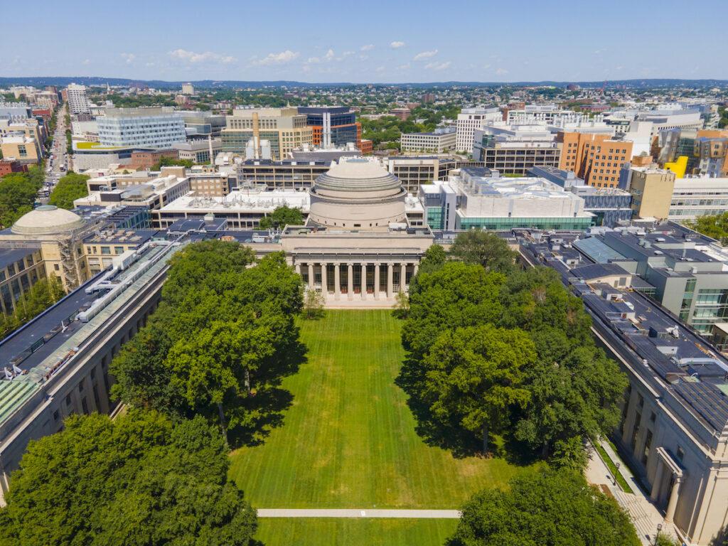 Aerial view of MIT campus.