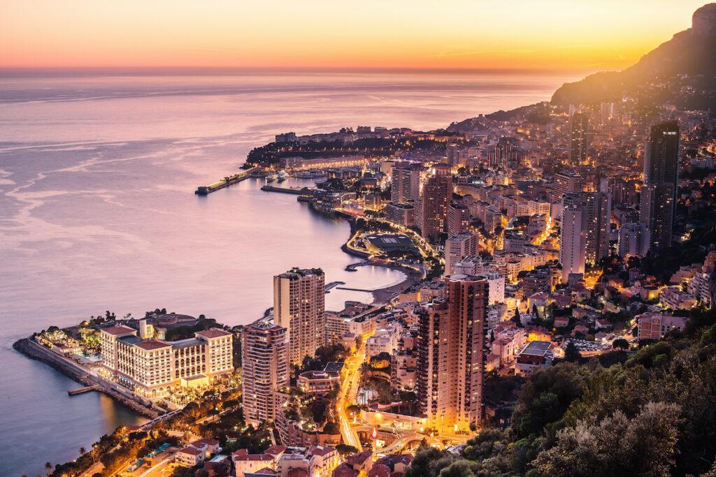 Aerial view of Monte Carlo, Moncao.