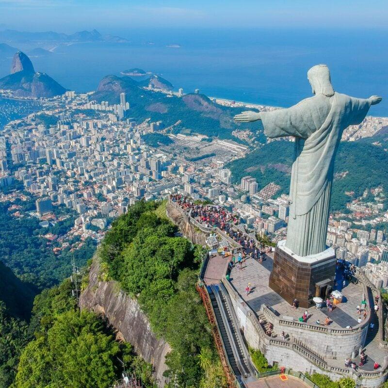 Aerial view of Rio de Janeiro in Brazil.