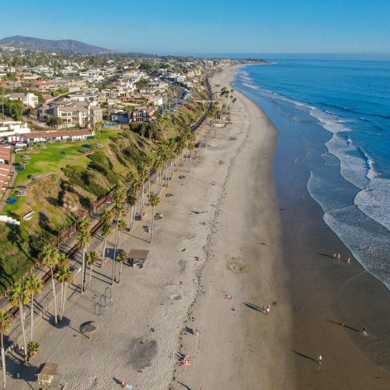 Aerial view of San Clemente, California.