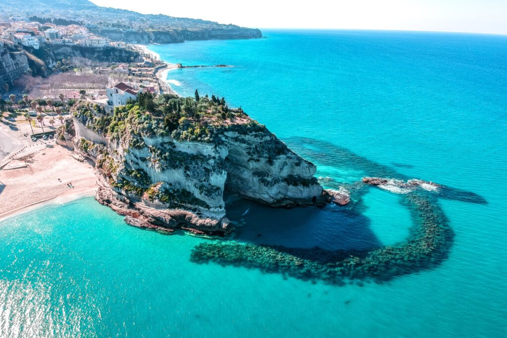 Aerial view of Santa Maria dell'Isola in Italy.
