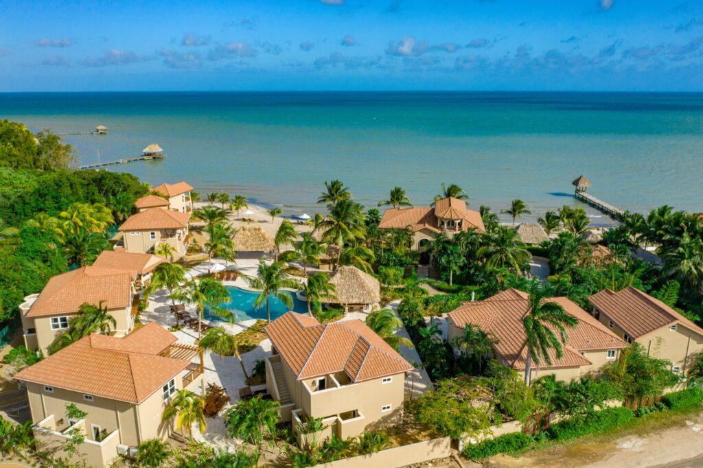 Aerial view of Sirenian Bay Resort and Villas.