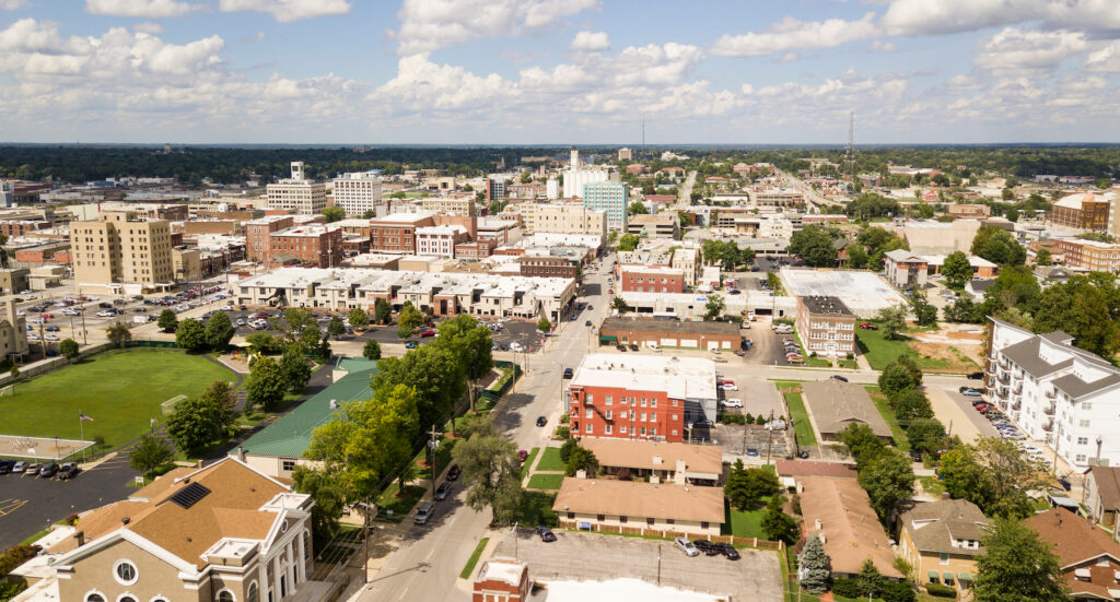 Aerial view of Springfield, Missouri.