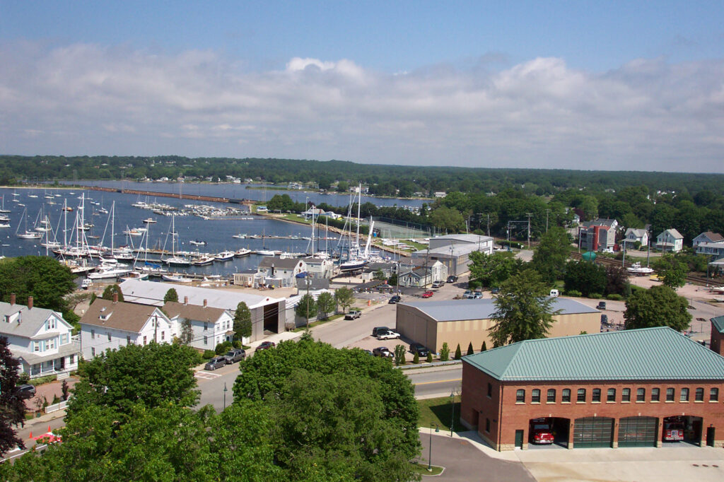 Aerial view of Stonington Borough, Connecticut.