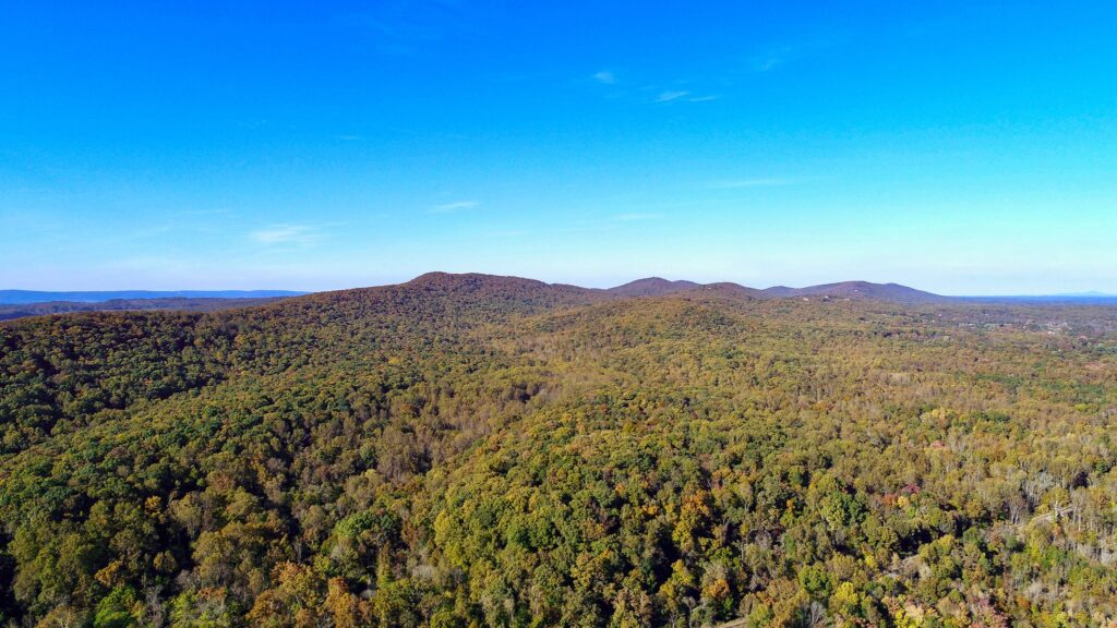 Aerial view of the Bull Run Mountains.