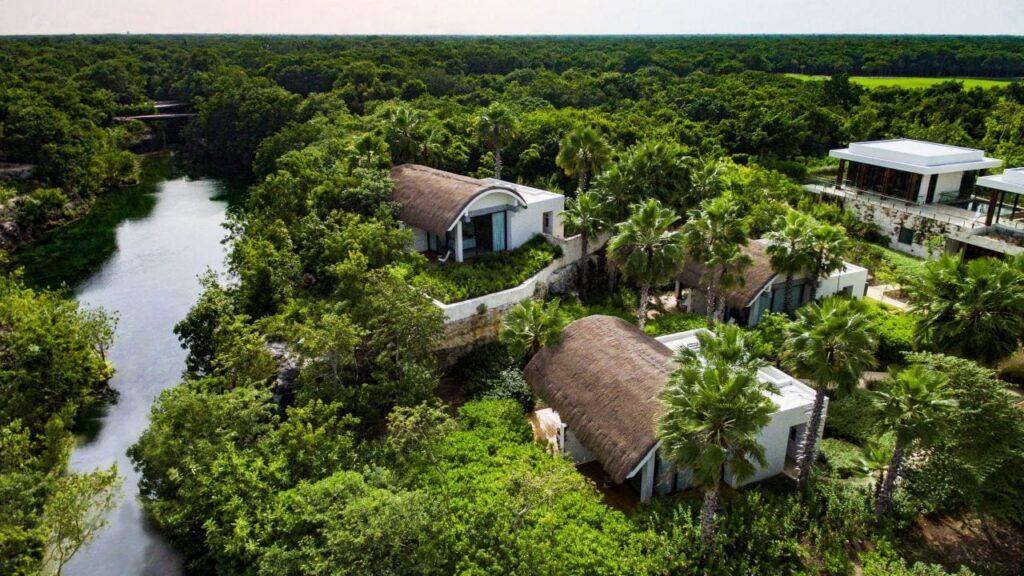 Aerial view of the Hyatt Andaz resort in Riviera Maya.