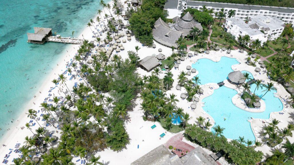 Aerial view of the La Romana resort.