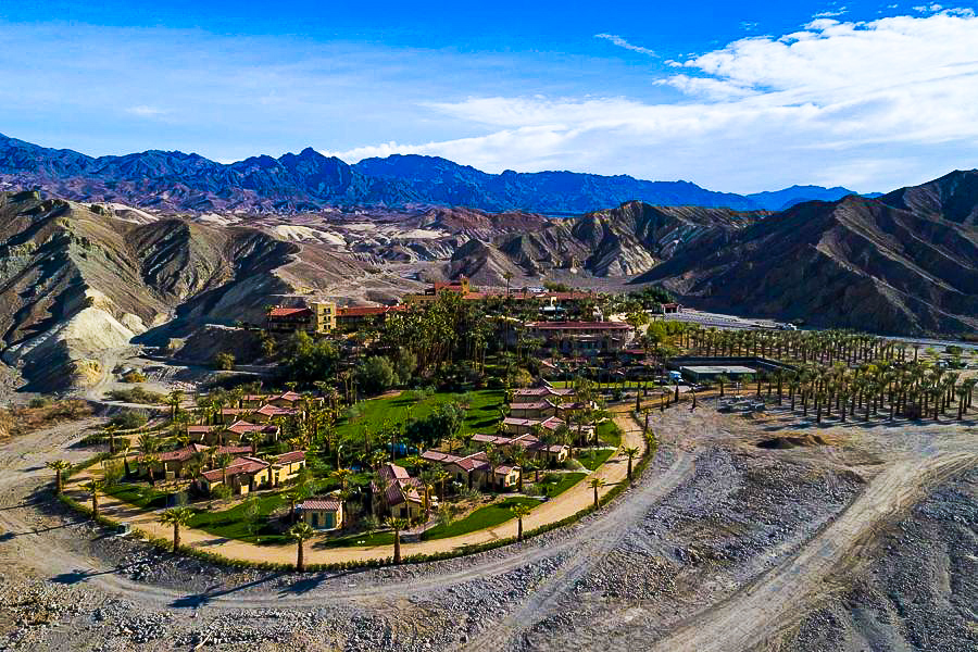 Aerial view of the Oasis at Death Valley