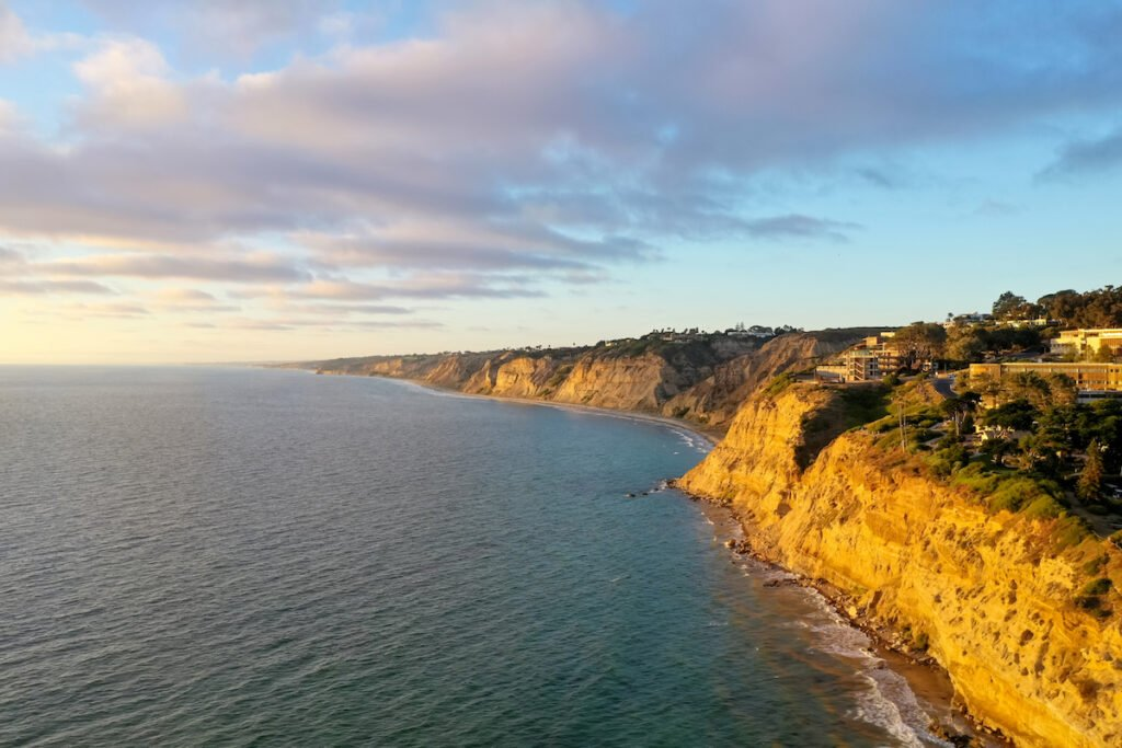 Aerial view of the Scripps Coastal Reserve.