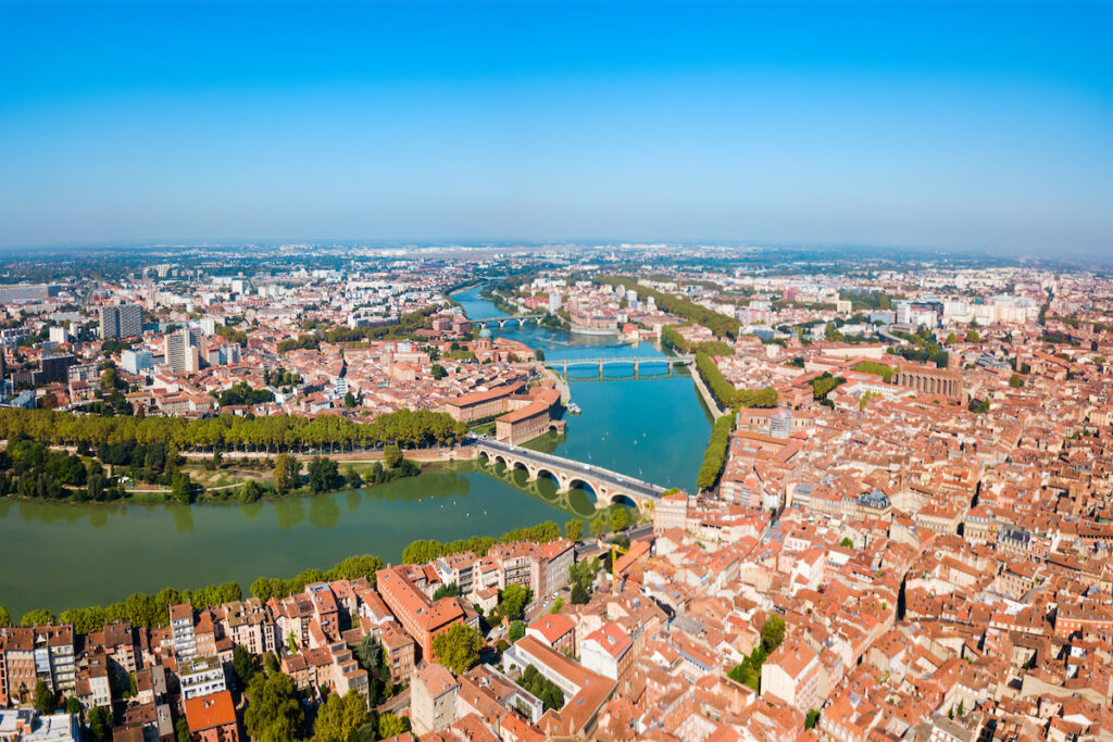 Aerial view of Toulouse, France.