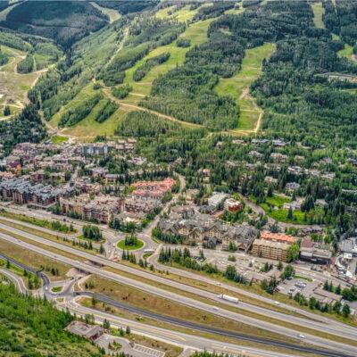 Aerial view of Vail, Colorado