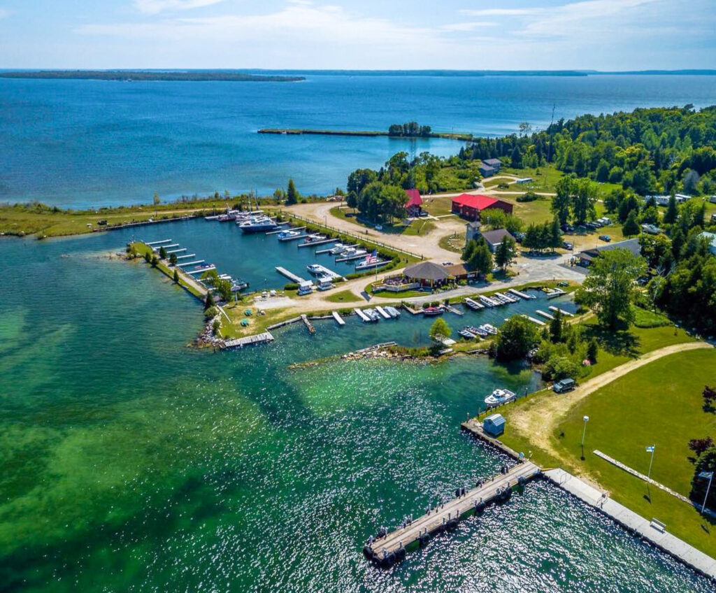 Aerial view of Washington Island.
