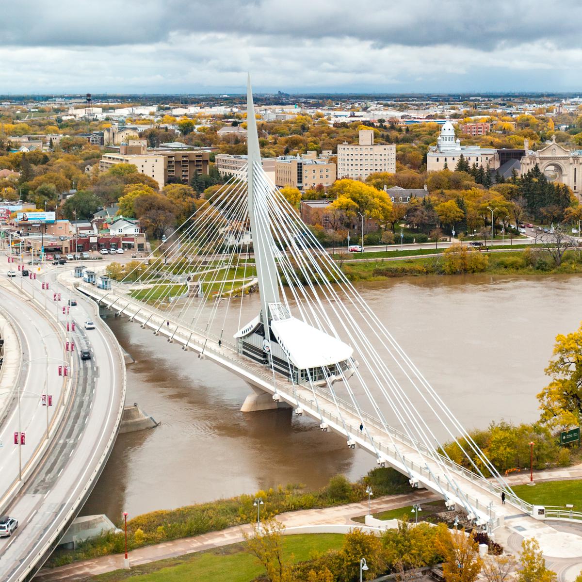 Aerial View of Winnipeg.