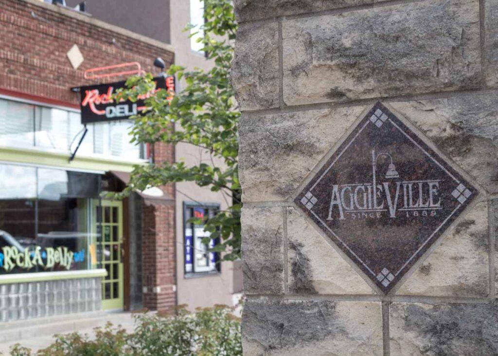 Aggieville in Manhattan, Kansas.