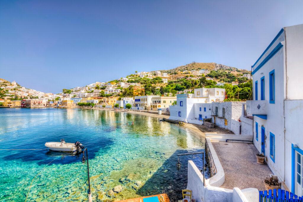 Agia Marina on Leros, Greece.