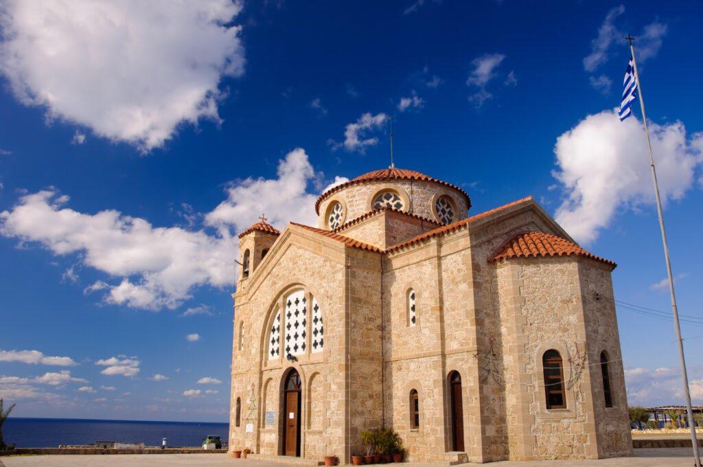Agios Georgios in Santorini.