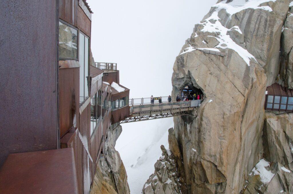 Aiguille Du Midi Bridge in the French Alps.