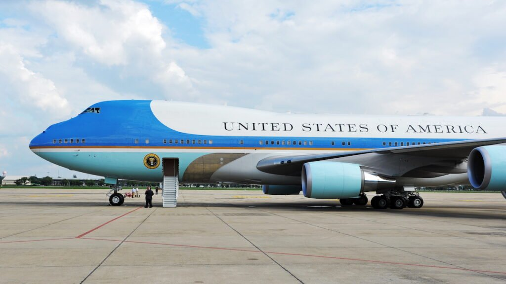 Air Force One, the president's private plane.