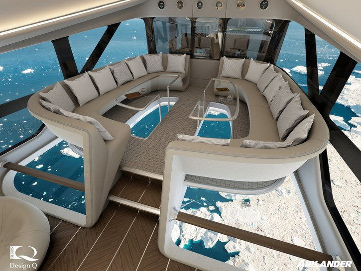 Airlander 10's glass floor seating area