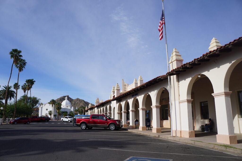 Ajo town center in Arizona.
