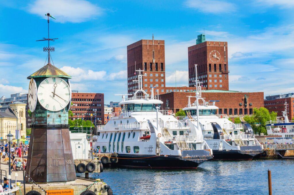 Aker Brygge Wharf in Oslo, Norway.