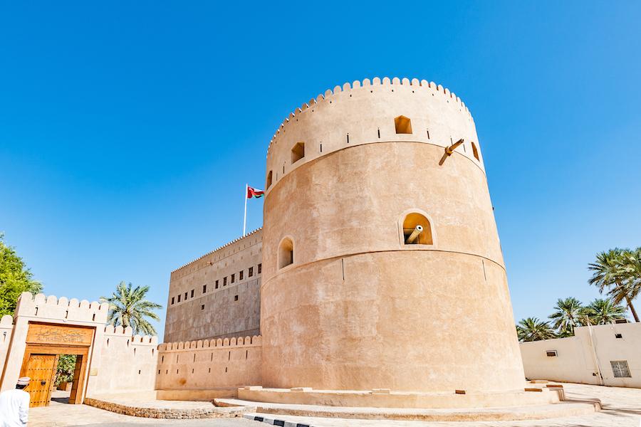 Al Hazm fort in Rustaq, Oman.