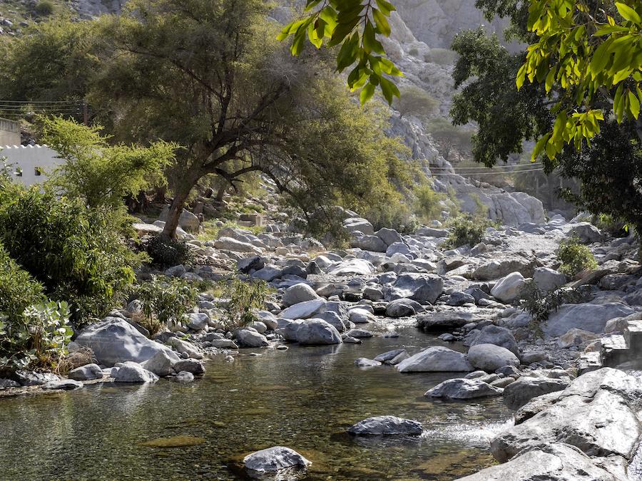 Al Throwarah hot springs in Oman.