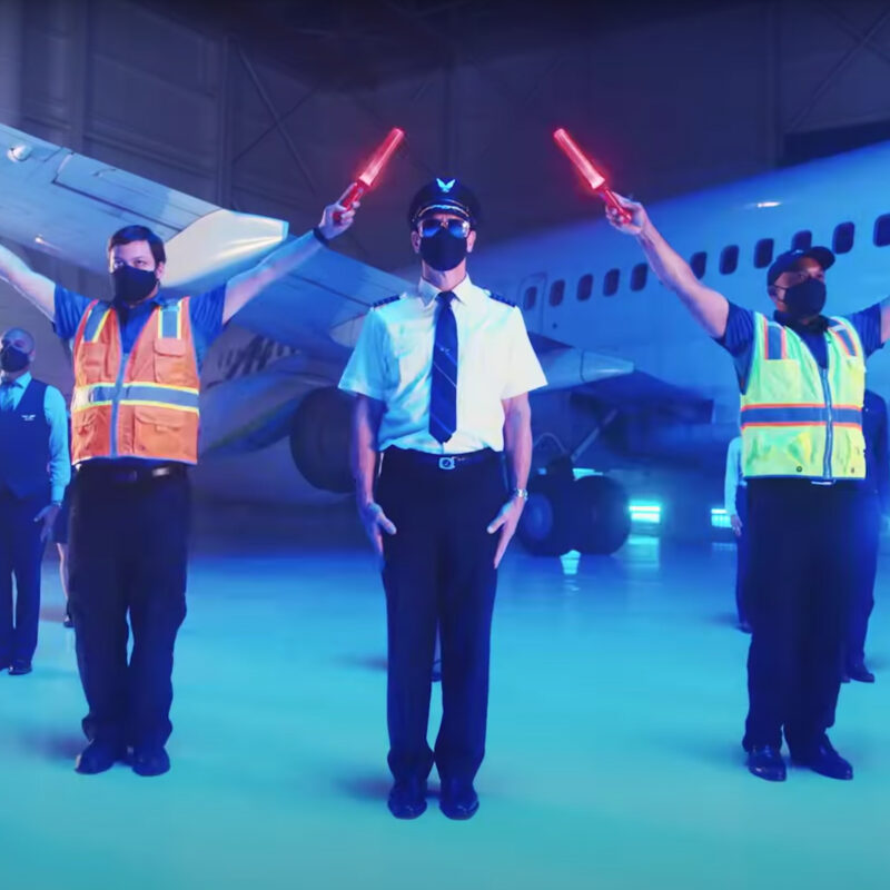 Alaska Airlines Employees' Safety Dance video.